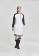 Rochie contrast College cu gluga pentru Femei alb-negru Urban Classics