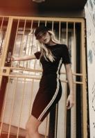 Rochie dungi laterale multicolore pentru Femei negru Urban Classics