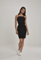 Rochie scurta cu bretele subtiri pentru Femei negru Urban Classics