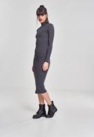 Rochie Turtleneck LS pentru Femei gri-carbune Urban Classics