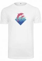 roz Dolphin Logo Tee alb Pink Dolphin