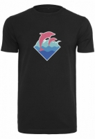 roz Dolphin Logo Tee negru Pink Dolphin