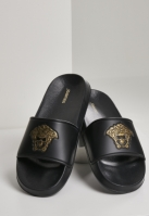 Sace Head Slides negru-auriu Schlappos