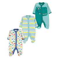 Salopeta pijama Set de 3 Crafted Mini Babies