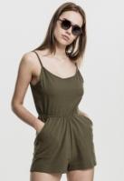 Salopeta scurta cu bretele subtiri pentru Femei oliv Urban Classics