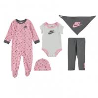 Salopeta Set bebelusi Nike 5 Piece pentru fete