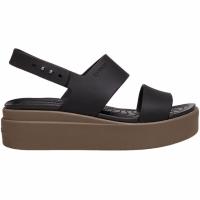 Sandale Crocs Brooklyn Low Wedge In maro 206453 07H pentru femei