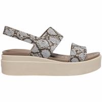 Sandale Crocs Brooklyn Low Wedge In Multi Plaster 206453 93T pentru femei