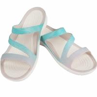 Sandale Crocs Swiftwater Seasonal W albastru deschis alb 205637 41S barbati