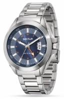 Sector R3253587001 Mod Gmt 720 - 44mm - 3h albastru Dial - Br Ststeel - Mineral Crystal
