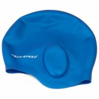 Mergi la Casca inot cu protectie urechi AQUA-SPEED 128 albastru 01