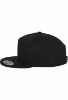 Sepci rap Snapback Classic 5 Panel negru-negru Flexfit
