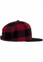 Sepci rap snapback Flanell in carouri negru-rosu Flexfit