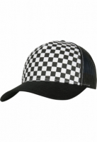 Sepci Retro Trucker Checkerboard negru-alb Flexfit