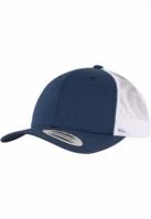 Sepci Retro Trucker doua culori bleumarin-alb Flexfit