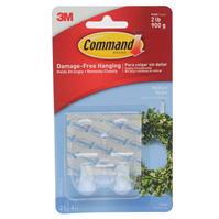 Set 2 Command Medium Clear Hooks