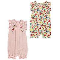 Set 2 Crafted Essentials Rompers pentru Bebelusi
