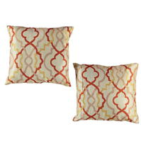 Set 2 Linens and Lace Diamond Cushions