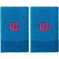 Set 2 Mansete pentru tenis Wilson Extra lat wide albastru WRA733514