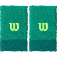 Set 2 Mansete pentru tenis Wilson Extra lat wide verde WRA733513