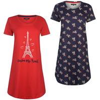 Set 2 Miso Night Dresses pentru Femei