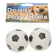 Set 2 Pet Touch Touch Sponge Dog Balls