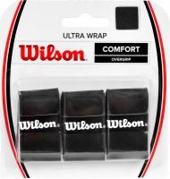 Set 3 WRAP, WILSON ULTRA WRAP COMFORT OVERGRIP negru WRZ403000