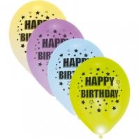 Set 4 Baloane Cu Led-uri Happy Birthday