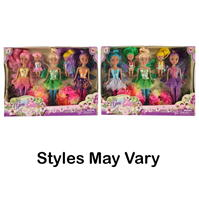 Set 5 Harbour Dolls Gem Fairy Angels Deluxe pentru fete
