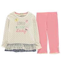 Set bebelusi Crafted Essentials 2 Piece Jersey pentru fete