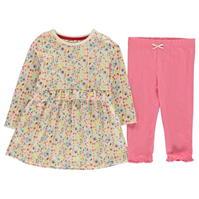 Rochie Crafted Essentials Piece Crafted roz Ditsy pentru fete