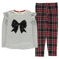 Set Crafted Essentials rosu Tartan pentru fete pentru copii