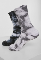 Set de 2 Sosete High Tie Dye negru-gri Urban Classics