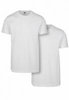 Set de 2 Tricouri simple alb-alb Urban Classics