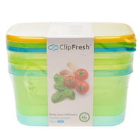 Set de 3 Clip Fresh Fresh 1.7L Food Containers
