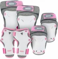 Set de 3 Role Protectie pentru ROCES cu aerisire alb / roz 301352 copii