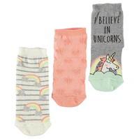Set de 3 Sosete Crafted Essentials Young Unicorn pentru fete