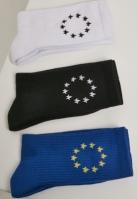 Set de 3 Sosete Euro alb-negru Merchcode