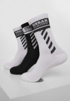 Set de 3 Sosete Sporty Logo alb-negru Urban Classics