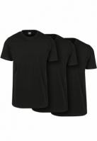 Set de 3 Tricouri simple negru-negru Urban Classics