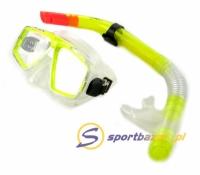 Set scufundari Crowell Masca inot + galben Tub Snorkeling4204