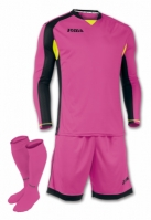 Set echipament portar Joma Fuchsia-negru cu maneca lunga