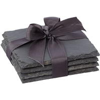 Set Hotel Collection Slate Coasters of 4