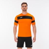 Set Joma Academy II portocaliu-negru cu maneca scurta