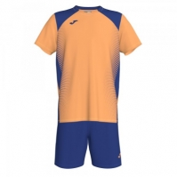 Set Joma Asteiro Light portocaliu-royal cu maneca scurta