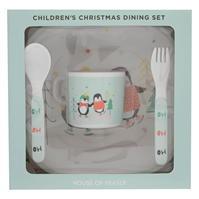 Set Linea Linea Melamine Craciun Dining pentru Copii