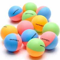 Set Mingi ping pong Of 12 Meteor Rainbow Colored 15025