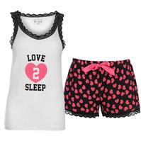 Set pijama cu pantaloni scurti Miso Vest and pentru Femei
