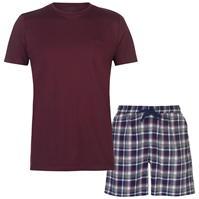 Set pijama cu pantaloni scurti Pierre Cardin Check pentru Barbati