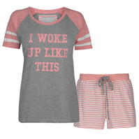 Set pijama cu pantaloni scurti Rock and Rags Collared